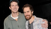 Tribes star Russell Harvard puts an arm around film and TV favorite Sam Rockwell (The Green Mile).
