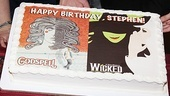 Stephen Schwartzs Birthday with Wicked and Godspell -  cake