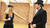 Billie Bendix (Kelli O'Hara) and Jimmy Winter (Matthew Broderick) meet for the first time during the show's title song.