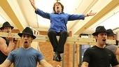 Judy Kaye (who plays Estonia Dulworth) is lifted up to the rafters for her big finish.