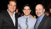 Jeremy Jordan poses with two of his favorite directors: Jeff Calhoun (Newsies) and Todd Graff (Joyful Noise).