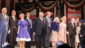 The Best Man stars Dakin Matthews, Jefferson Mays, Kerry Butler, Eric McCormack, James Earl Jones, John Larroquette, Candice Bergen, Angela Lansbury, Michael McKean, Corey Brill and Donna Hanover bask in the opening night applause.