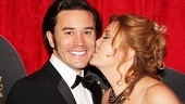 End of the Rainbow co-star Tom Pelphrey gets a big opening night kiss from his mom.
