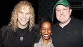 David Bryan has a Memphis reunion with ensemble members Tanya Birl and Kevin Covert, who now play Nancy and Mr. Johnson, respectively, in How to Succeed.