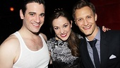 It's a Hope and Billy reunion! Anything Goes star Colin Donnell welcomes his former onstage love interest Laura Osnes and her real-life husband Nathan Johnson to the party.