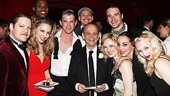 Joel Grey is proud to have Anything Goes castmates Robert Petkoff, Kimberly Faure, Lawrence Alexander, Ward Billeisen, Justin Greer, Hayley Podschun, Bill English, Jennifer Savelli and Michelle Loucadoux by his side on his birthday.