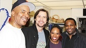 David Alan Grier and husband-and-wife castmates Andrea Jones-Sojola and Phumzile Sojola thank Jim Carrey for coming out to see Porgy and Bess.