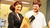 Linda Lavin is only too happy to share the spotlight with her onstage son, Michael Esper.