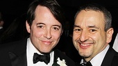 Leading man Matthew Broderick and book writer Joe DiPietro are all smiles on opening night.
