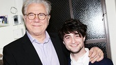 Former How to Succeed stars John Larroquette (J.B. Biggley)  and Daniel Radcliffe (J. Pierrepont Finch) reunite at The Best Man.