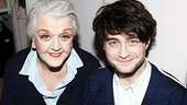 Five-time Tony winner Angela Lansbury (who plays Mrs. Sue-Ellen Gamadge in Gore Vidal's The Best Man) welcomes Daniel Radcliffe back to Broadway for a visit.
