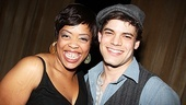 Leap of Faith's Angela Grovey reunites with her Joyful Noise co-star Jeremy Jordan (who currently stars in Newsies) at the gala.