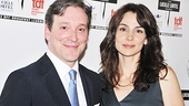 Outstanding Revival presenters (and Clybourne Park stars) Annie Parisse and Jeremy Shamos come in close for a photo.