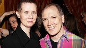 Cynthia Nixon poses with her pal Charles Busch at the Women Behind Bars reception.