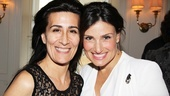 A Broader Way Creative Director Jeanine Tesori is all smiles with her pal Idina Menzel at the gathering.