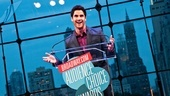 Darren Criss jokes with the crowd between awards.
