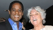 A Streetcar Named Desire star Blair Underwood shares a laugh with Master Class alum Tyne Daly.
