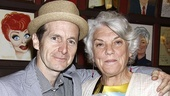 Denis O'Hare, winner of the award for Outstanding Solo Performance for his work in An Iliad, strikes a pose with nominee Tyne Daly (Master Class).