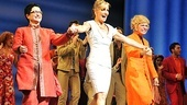 Mamma Mia! besties Lauren Cohn, Judy McLane and Felicia Finley take their official opening night bows.