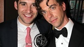 Peter and the Starcatcher's Adam Chanler-Berat strikes a pose with his co-star Christian Borle...and Borle's shiny new Tony Award!