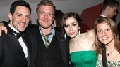 Once stars of stage and screen Steve Kazee, Glen Hansard, Cristin Milioti and Marketa Irglova line up for a celebratory photo.