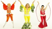 Felicia Finley as Tanya, Judy McLane as Donna Sheridan and Lauren Cohn as Rosie in Mamma Mia!