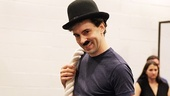 "Rob McClure dons his Tramp moustache and bowler for the knockout number ""Just Another Day in Hollywood."""