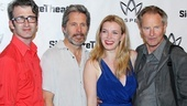 Heartless director Daniel Aukin and writer Sam Shepard flank stars Gary Cole and Betty Gilpin on opening night.