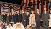 Bravo! The cast of The Best Man takes a final bow at the Schoenfeld Theatre.