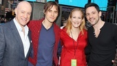 Broadway is one big melting pot! Anthony Warlow, Reeve Carney, Katie Finneran and Steve Kazee represent their (very different) shows backstage.