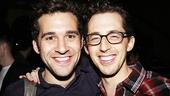 Mark times two: Adam Chanler-Berat (now starring in Peter and the Starcatcher) greets Josh Grisetti. 