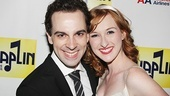 Rob McClure cuddles up to his onstage sweetheart, Erin Mackey.