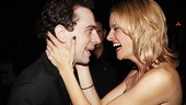 We did it! Rob McClure and Jenn Colella share a moment of opening night silliness.