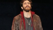 As he makes his off-Broadway debut, Jake Gyllenhaal basks in the opening night applause.