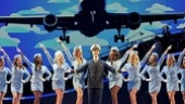 Stephen Anthony as Frank Abagnale, Jr. and the cast of the national tour of Catch Me If You Can.