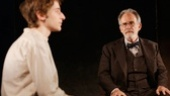 Noah Robbins as Moishe Bretzky and Ron Rifkin as Yevgeny Zunser in The Twenty-Seventh Man.