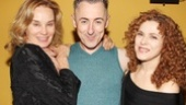 Alan Cumming is surrounded by gorgeous stars! Jessica Lange and Bernadette Peters rally around the Macbeth headliner.