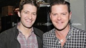 Hairspray reunion! The hit 2000 musical's original Link Larkin (Matthew Morrison, of course!) says hello to original Corny Collins (Clarke Thorell, now playing Rooster in Annie).
