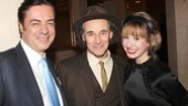 Key Brand Entertainment CEO John Gore and his cousin Jazmin Grace Grimaldi offer warm congratulations to Mark Rylance.