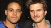 Take Me Out onstage rivals Daniel Sunjata and Frederick Weller.