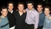 The Men of Harmony:Thom Christopher Warren, Aaron Lazar, Stephen Buntrock, Bradley Dean, Brian d'Arcy James and David Turner.