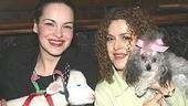 Awww!Tammy Blanchard and Bernadette Peters get cozy with some adorable friends.