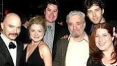 Assassins composer Stephen Sondheim hangs with cast members (l-r) Michael Cerveris, Kendra Kassebaum, Merwin Foard, James Barbour and Anne L. Nathan.