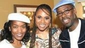 Deborah Cox (center) backstage with guests Angela Bassett and Courtney B. Vance.