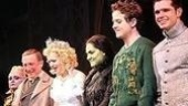 Wicked stars Carole Shelley, George Hearn,Thompson, Bean, McIntyre and Robb Sapp,an understudy on in the role of Boq.