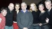 Sondheim poses with the assembled stars.