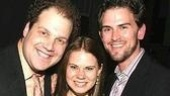 Avenue Q's Jordan Gelber with Celia Keenan-Bolger and Daniel Reichard.