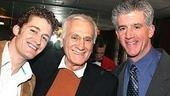Dick Latessa poses with former co-stars Matthew Morrison (Hairspray) and Gregory Jbara (Damn Yankees).