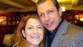 Two winners!The Light in the Piazza star Victoria Clark with The Pillowman's Jeff Goldblum.