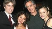 Epic Theater Center's founding producer Zak Berkman with Daphne Rubin-Vega, honoree David Strathairn and Kyra Sedgwick.